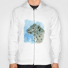 Snow Leopard & snowflakes 860 Hoody