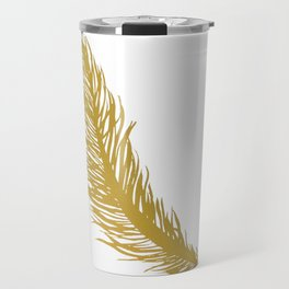 Gold Feather Travel Mug