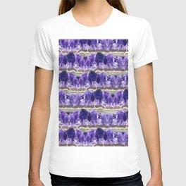 Purple Amethyst Geode Mountains T-shirt