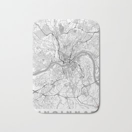 Cincinnati Map Line Bath Mat
