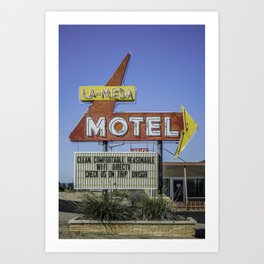 La-Mesa Motel Art Print