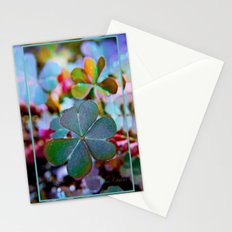 Heart clover Stationery Cards