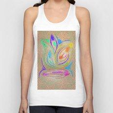 Colorful Lotus flower - uma releitura Unisex Tank Top
