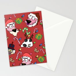 Pink Christmas Dog Stationery Cards
