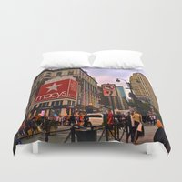 manhattan Duvet Covers featuring Manhattan by Jaime Viens