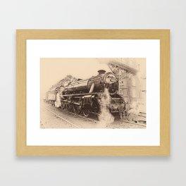 Steam Train - 45212 Locomotive Framed Art Print