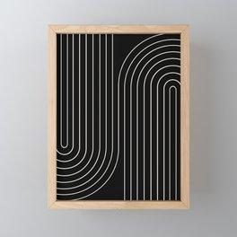 Minimal Line Curvature II Framed Mini Art Print