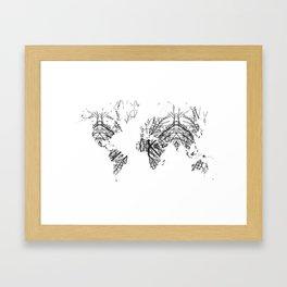 World Map by Fernanda Quilici Framed Art Print
