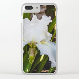White Iris 1 Clear iPhone Case