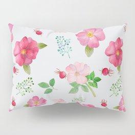 Rosehip Spring Garden Floral Pattern Pillow Sham