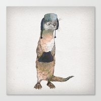 otter Canvas Prints featuring Otter by David Fleck