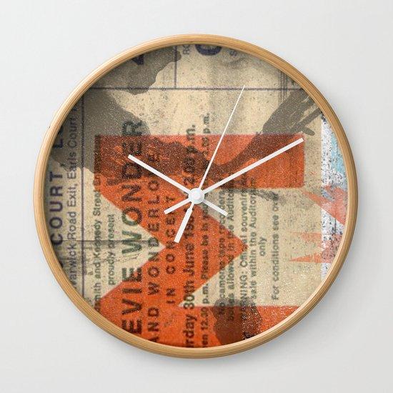 stevie wonder ticket stub Wall Clock