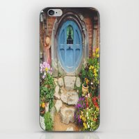 the hobbit iPhone & iPod Skins featuring Hobbit Hole by Tianna Chantal