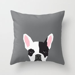 Parker - French Bulldog animal art modern colors for dog people Throw Pillow