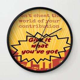 Superhero Quote  Wall Clock