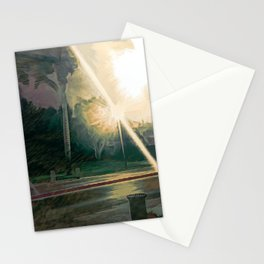 City Park at night 3 Stationery Cards