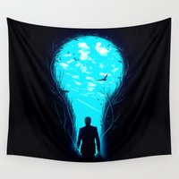 clock Wall Tapestries featuring Bright Side by nicebleed