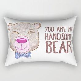Handsome Bear Rectangular Pillow