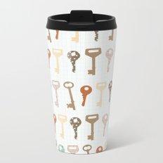 keys pattern Metal Travel Mug