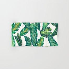 Jungle Leaves, Banana, Monstera II #society6 Hand & Bath Towel