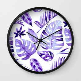 Tropical vibes - ultra violet Wall Clock