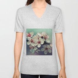 Cherry Blossom, Cherryblossom, Sakura, Vintage Style Unisex V-Neck