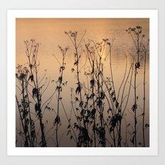 lake Impresions 3 Art Print