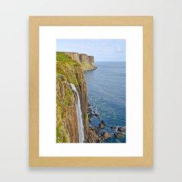 Kilt Rock Waterfall Framed Art Print