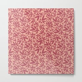 Heart shaped pattern | Pink Metal Print