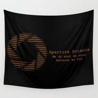 science Wall Tapestries featuring Aperture Science by IS0metric