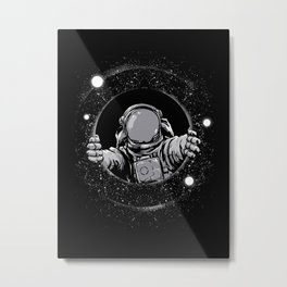 Black Hole Metal Print