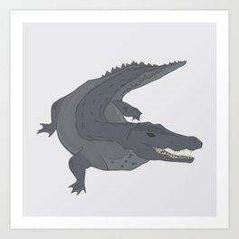 Orinoco Crocodile Art Print