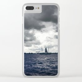 blue river Clear iPhone Case