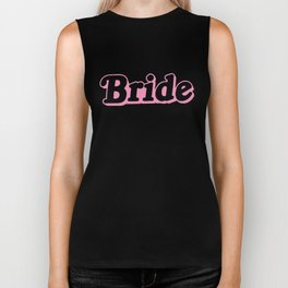 Bride Pink Top Wedding Hen Party Gift Married To Be Mrs Wifey Biker Tank