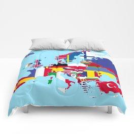 Europe flags Comforters