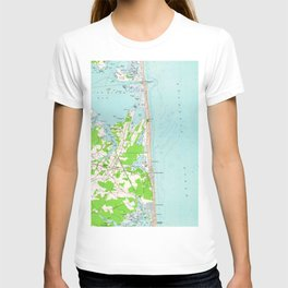 Vintage Map of Bethany Beach Delaware (1954) T-shirt