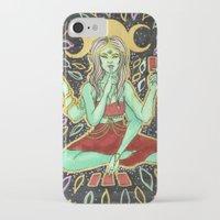tarot iPhone & iPod Cases featuring Tarot Reader by VanessaMacias