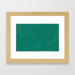 Circles and Spirals Framed Art Print