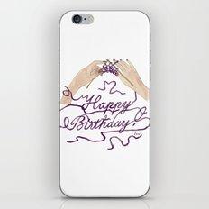 Knitting You a Happy Birthday iPhone & iPod Skin
