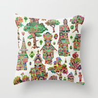 hamlet Throw Pillows featuring Crystal Hamlet by C86 | Matt Lyon