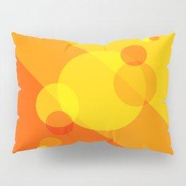 Orange Spheres Abstract Pillow Sham