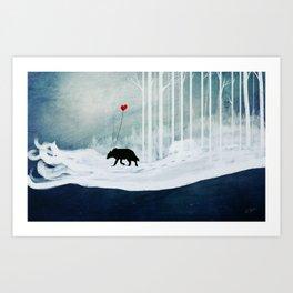 WOLF - A Love Always Carried  Art Print