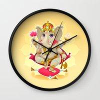 ganesh Wall Clocks featuring Ganesh by Danilo Sanino