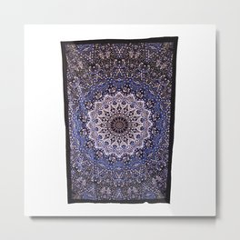 Indian Star Hippie Wall Hanging Psychedelic Mandala Tapestry Metal Print