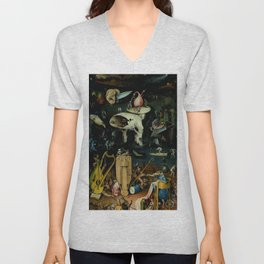 "Hieronymus Bosch ""The Garden of Earthly Delights"" - Hell Unisex V-Neck"