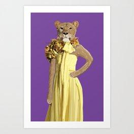 Lioness wearing Gucci Art Print