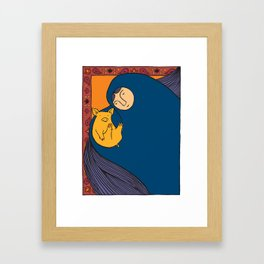Golden Pig Framed Art Print