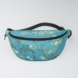 Vincent van Gogh Blossoming Almond Tree (Almond Blossoms) Light Blue Fanny Pack