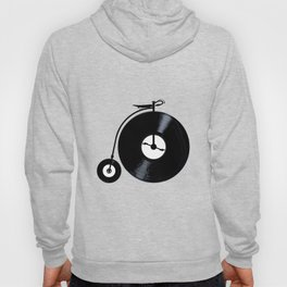 Penny Farthing With Vinyl Records Hoody