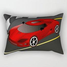 Red Racer Rectangular Pillow